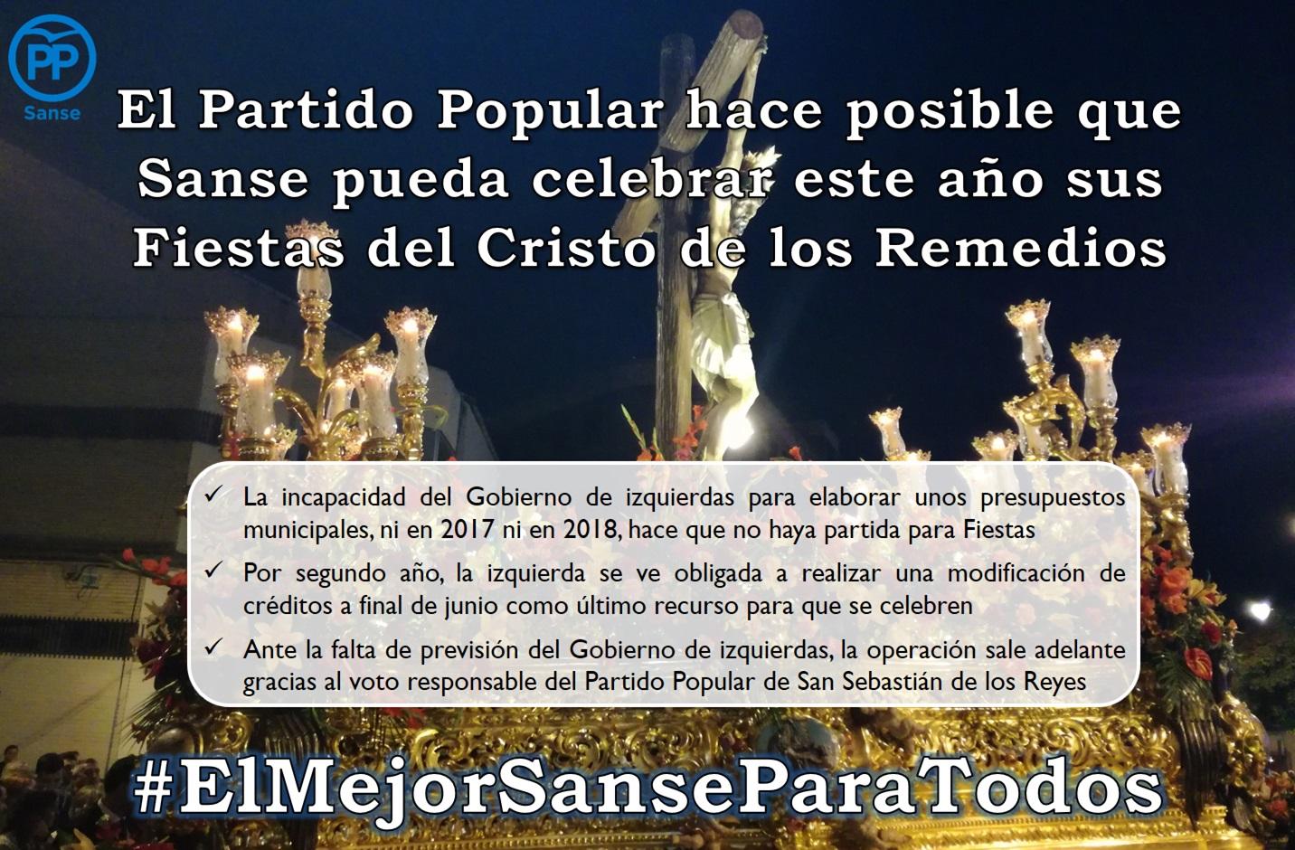 El Pp De San Sebastián De Los Reyes Logra Que Las Fiestas Del Cristo